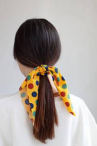 Резинка для волос FAMO Резинка Твилли желтая One size (5-6262) #L/A