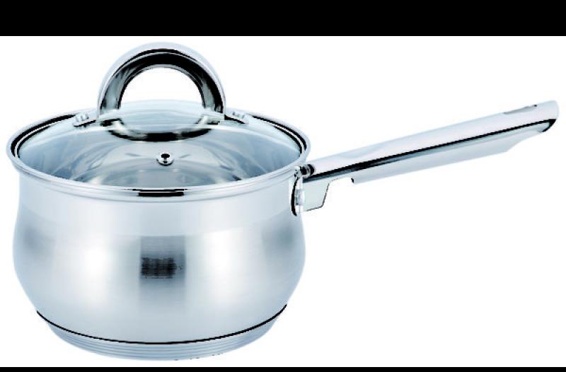 Ківш з кришкою з нержавіючої сталі Benson BN-224 (1 л) | сотейник | кухлик Бенсон | набір посуду