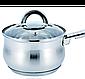 Ківш з кришкою з нержавіючої сталі Benson BN-224 (1 л) | сотейник | кухлик Бенсон | набір посуду, фото 3