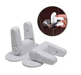 Універсальний дитячий замок Door Lever Lock для ручок (2 шт)   засувка для дверей