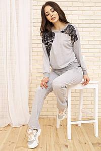 Костюм жіночий 167R001S колір Сіро-чорний