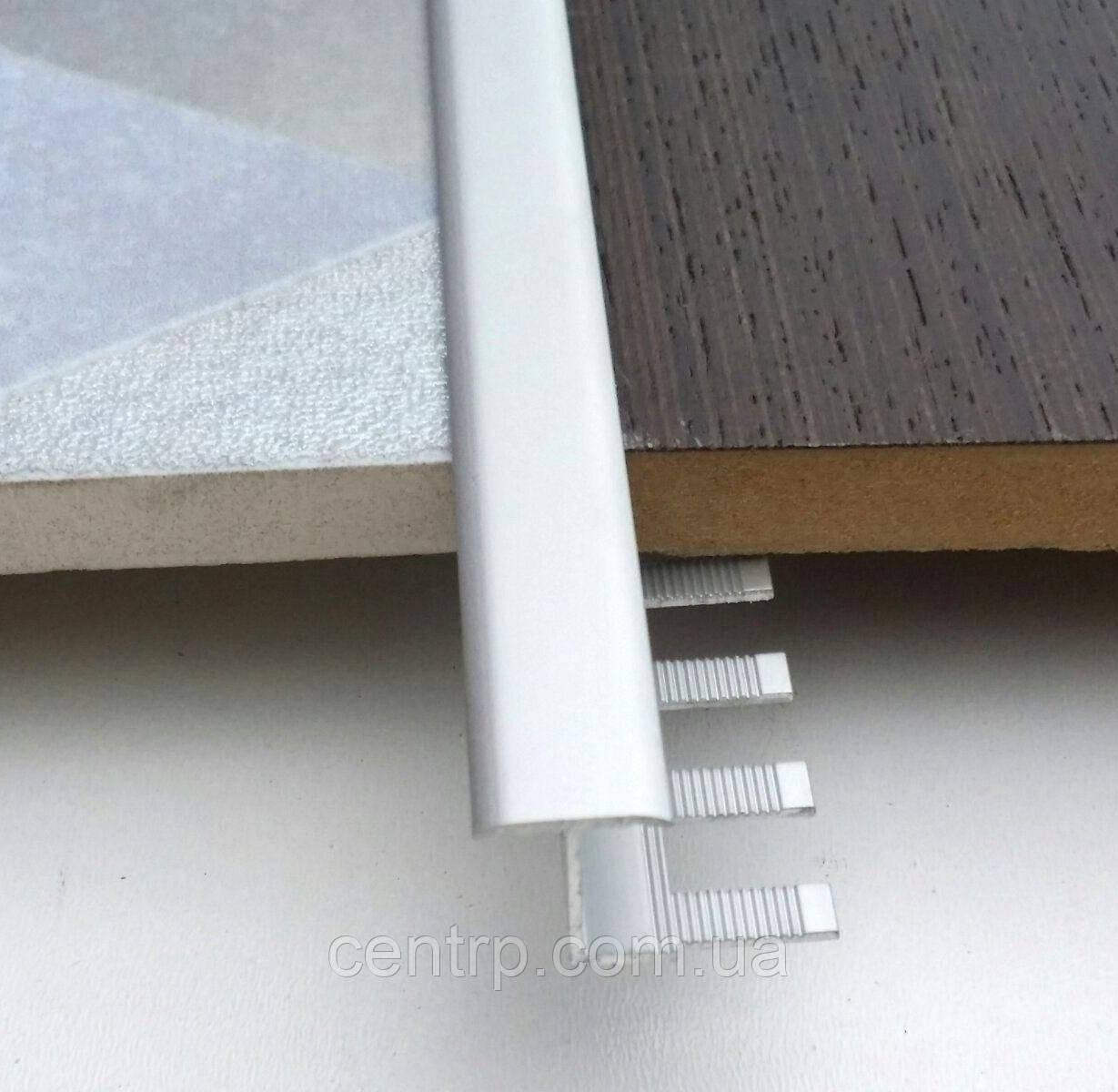 Гибкий Т-образный профиль для плитки до 12 мм АПЗГ 14-12 (14 мм) L - 2,7 м