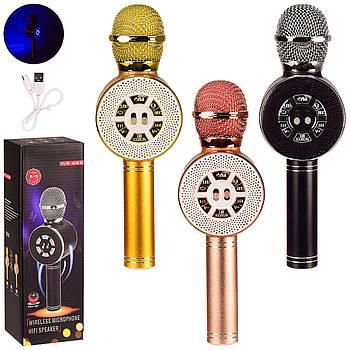 Светящийся микрофон караоке с динамиком M155 черный