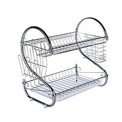 Стійка для зберігання посуду kitchen storage rack   полку - сушарка для посуду
