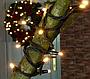 Гірлянда 100LED 10м (контрол.220V) (НП) Теплий, Новорічна бахрама, Світлодіодна гірлянда, Вулична гірлянда, фото 4