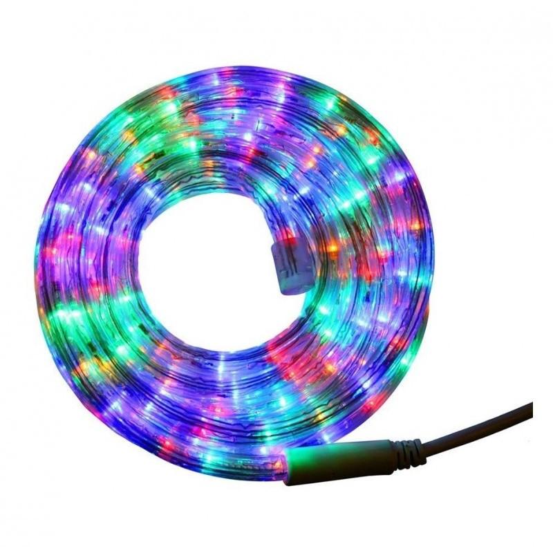 Гірлянда дюралайт   світлодіодна стрічка   круглий шланг 7189, RGB, 10м з контролером на 220в (Мікс)