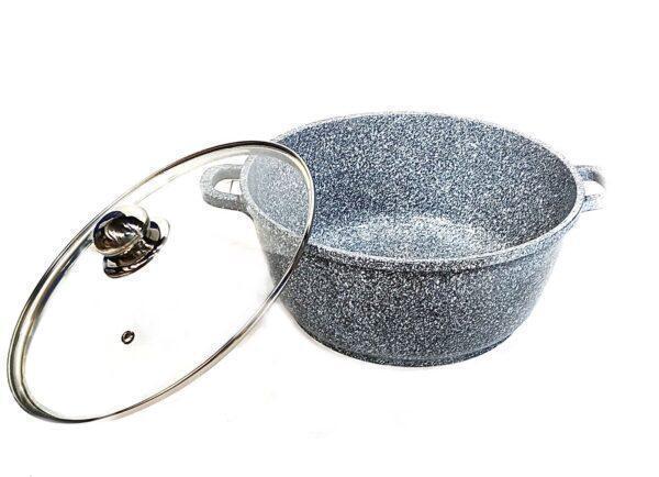 Каструля з гранітним антипригарним покриттям Benson BN-319 (6.3 л)   казан з кришкою Бенсон   каструлі Бэнсон