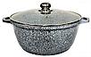 Каструля з гранітним антипригарним покриттям Benson BN-319 (6.3 л)   казан з кришкою Бенсон   каструлі Бэнсон, фото 3