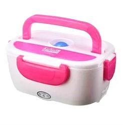 Электрический ланч-бокс с подогревом Benson BN-035 розовый | контейнер для еды Бенсон | ланчбокс Бэнсон