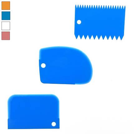 Набір шпателів кондитерських з 3-х штук L 12 см ширина 8 см, фото 2