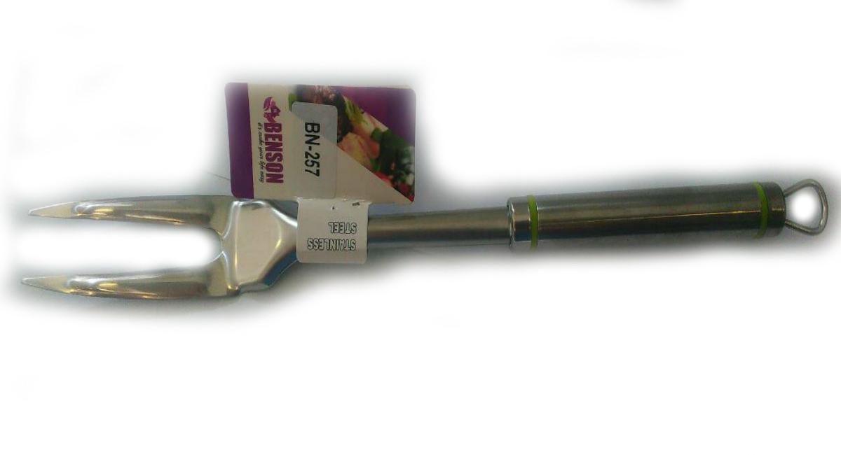 Виделка для м'яса з нержавіючої сталі Benson BN-257 | столові прилади | кухонне приладдя з нержавіючої сталі