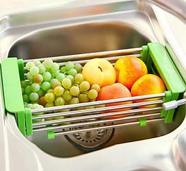 Складна багатофункціональна кухонні полку Kitchen Drain Shelf Rack   Сушарка для посуду на раковину