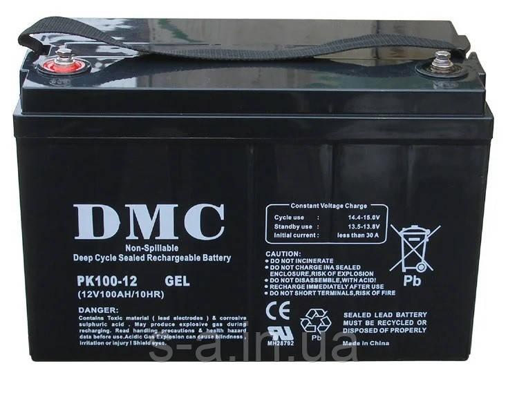 Гелевий акумулятор для систем резервного та автономного живлення, СЕС, PK100-12 GEL 100A*год 12В, GEL
