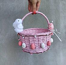 Дитячий рожевий великодній кошик для дівчаток