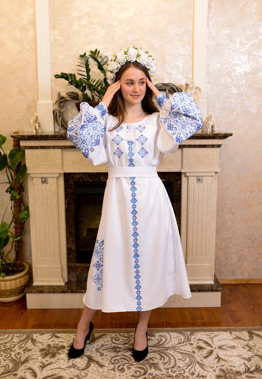 Шикарна сукня «Голуба лавина»