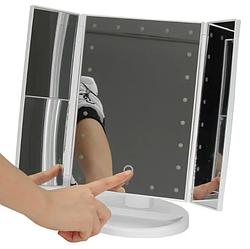 Дзеркало потрійне для макіяжу Superstar Magnifying Mirror з LED-підсвічуванням прямокутне із збільшенням біле