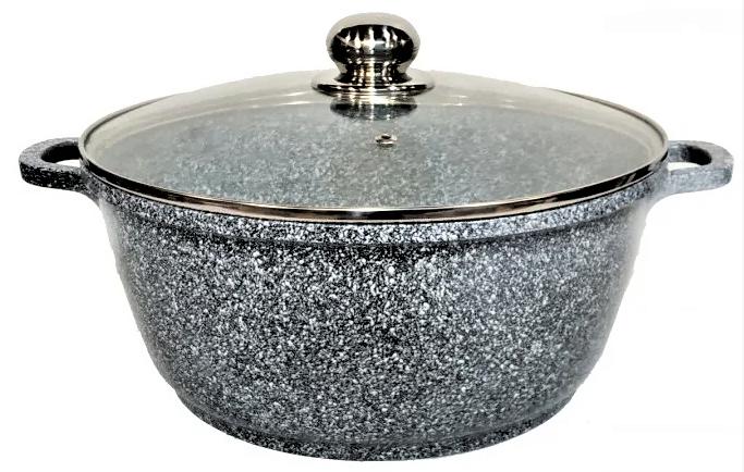 Каструля з гранітним антипригарним покриттям Benson BN-318 (5.8 л) | казан з кришкою Бенсон | каструлі Бэнсон