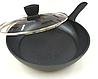 Сковорода з антипригарним мармуровим покриттям з кришкою Benson BN-340 (24 см) | сковорідка Бенсон, фото 5