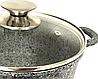 Кастрюля с мраморным антипригарным покрытием Benson BN-351 (3.2 л)   казан с крышкой Бенсон   кастрюли Бэнсон, фото 2