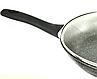 Сковорода Benson BN-491 з мармуровим антипригарним покриттям, з кришкою (24 см) | сковорідка Бенсон, фото 4