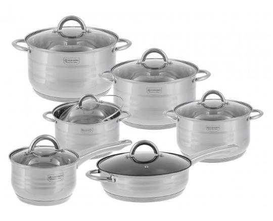 Набор посуды Edenberg EB-3732 кастрюли ковш и сковорода из 6 предметов