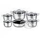 Набір посуду Edenberg EB-3732 каструлі ківш і сковорода з 6 предметів, фото 3