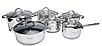 Набор посуды Edenberg EB-4012 кастрюли сотейник и ковш из 6 предметов, фото 3