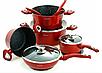 Набір посуду Edenberg EB-5612 з 15 предметів   Каструлі, сковороди ківш мармурове покриття, фото 4