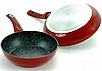 Набір посуду Edenberg EB-5612 з 15 предметів   Каструлі, сковороди ківш мармурове покриття, фото 5