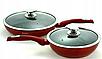 Набір посуду Edenberg EB-5612 з 15 предметів   Каструлі, сковороди ківш мармурове покриття, фото 6