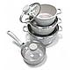 Набор посуды Edenberg EB-9182 из 4 предметов казаны и ковш мраморное покрытие, фото 2