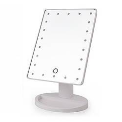 Дзеркало для макіяжу з LED підсвічуванням Magic MakeUp Mirror прямокутне БІЛЕ