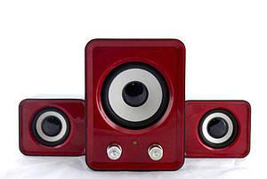 Компьютерные колонки акустика IS 12 220v Красные   акустические мощные колонки   музыкальная колонка