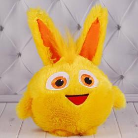 """М'яка іграшка """"Пухнастик жовтогарячий"""", Копиця 00237-8, 30x21x17"""
