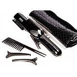 Беспроводная аккумуляторная машинка для стрижки секущихся кончиков волос в чехле, фото 2