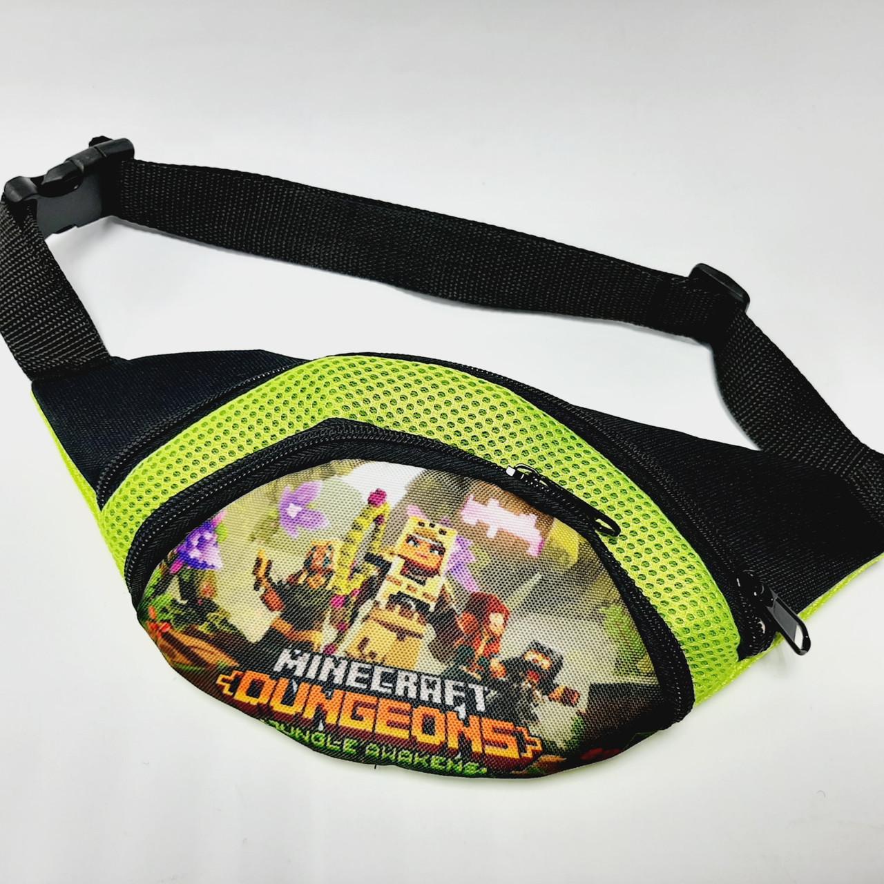 Поясная детская сумка бананка Minekraft