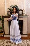 Довга вишита сукня з мереживом «Зоряне сяйво», фото 5