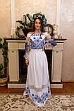 Довга вишита сукня з мереживом «Зоряне сяйво», фото 7