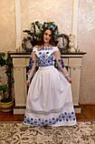 Довга вишита сукня з мереживом «Зоряне сяйво», фото 6