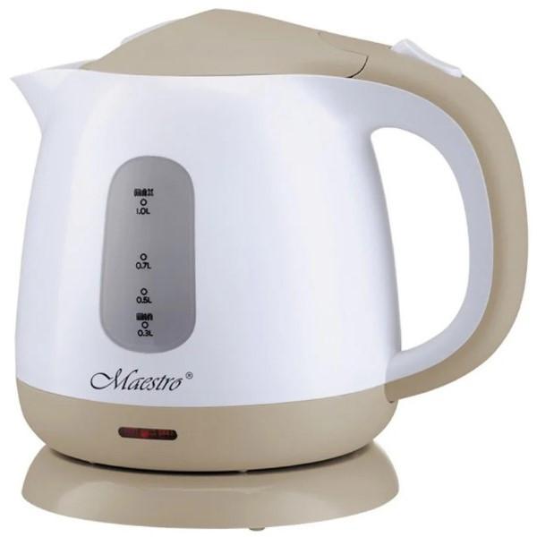 Чайник Maestro MR-012 білий з коричневим (1 л, 1100 Вт) | електричний чайник Маестро, Маестро
