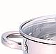 Набір каструль Benson BN-291 з нержавіючої сталі 10 предметів (+ ківш, сковорода) | каструля Бенсон, Бэнсон, фото 5