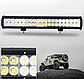 Автофара на крышу 48 LED 5D-144W-SPOT 570х70х80 | Светодиодная балка, фото 2