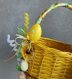 Жовтий дитячий пасхальний кошик для хлопчиків та дівчаток, фото 5