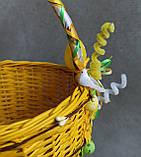 Жовтий дитячий пасхальний кошик для хлопчиків та дівчаток, фото 3
