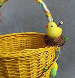 Жовтий дитячий пасхальний кошик для хлопчиків та дівчаток, фото 4
