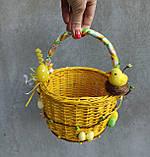 Жовтий дитячий пасхальний кошик для хлопчиків та дівчаток, фото 6
