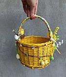 Жовтий дитячий пасхальний кошик для хлопчиків та дівчаток, фото 7