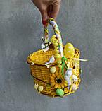 Жовтий дитячий пасхальний кошик для хлопчиків та дівчаток, фото 9