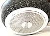 Сковорода Benson BN-541 (22 см) с крышкой, антипригарное гранитное покрытие   сковородка Бенсон, Бэнсон, фото 6