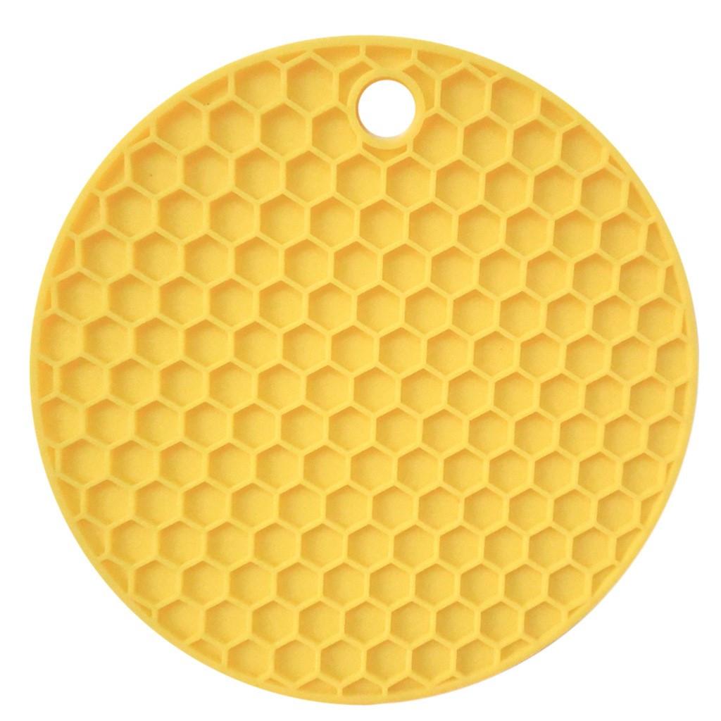 Подставка под горячее Benson BN-990 силиконовая желтая | подставки под горячее Бенсон | подложка для горячего